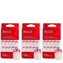 unhas postiças decoradas 02 kit (3 produtos)