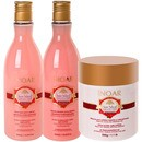 natural collection rosa imperial hair kit (3 produtos)
