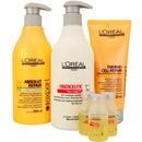 l'oréal professionnel fiberceutic ritual de reconstrução cabelos finos com química kit (4 produtos)