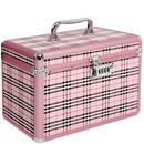 maleta aluminio rosa 28,5 x 17 x 20,5 ricca