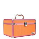maleta alumínio - branca e rosa