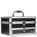maleta alumínio - roxa com gaveta